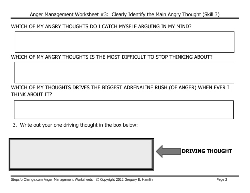 Free Download Link for Third in Series of Anger Management Worksheets – Anger Worksheet