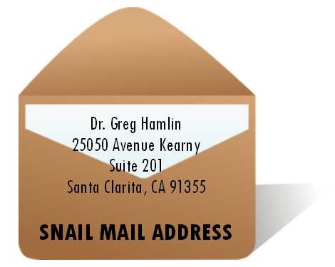 Contact Dr Greg Hamlin by USPS